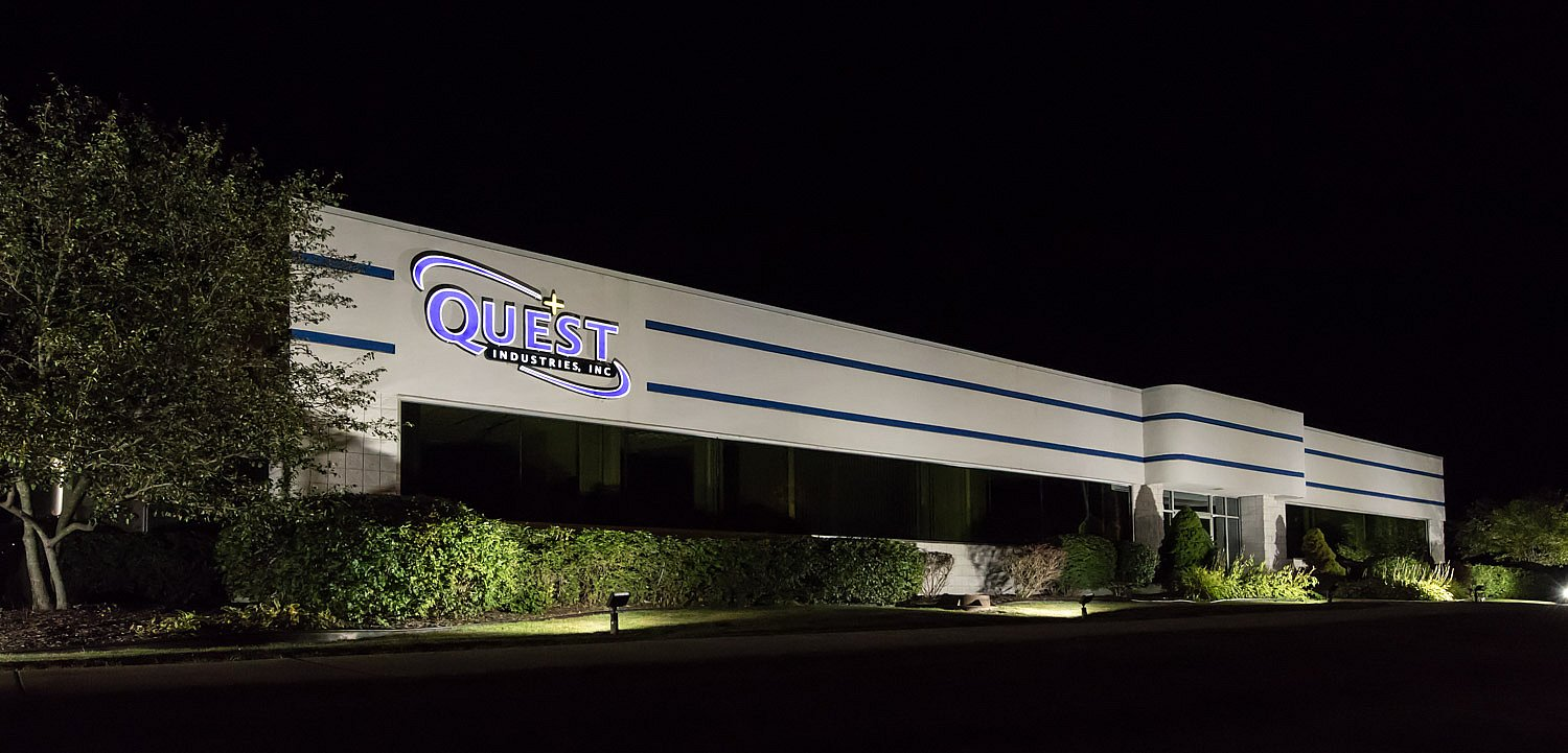Quest Industries at Night